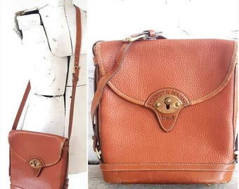 Dooney & Bourke Purse, Leather, Crossbody bag, Authentic, Whiskey leather Bag