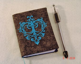 Fancy Heart Mini Composition Notebook Cover