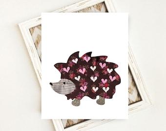 Hedgehog Nursery, Woodland Nursery, Woodland Animal, Hedgehog, Nursery Wall Art, Nursery Decor, 8x10, PRINTABLE, Digital Download