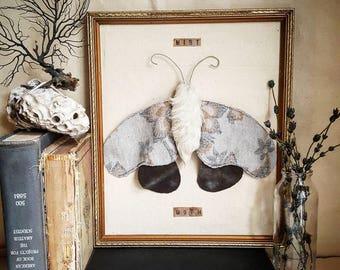 Mist moth textile sculpture
