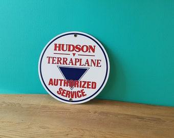 Vintage Hudson Terraplane Automotive Porcelain Sign