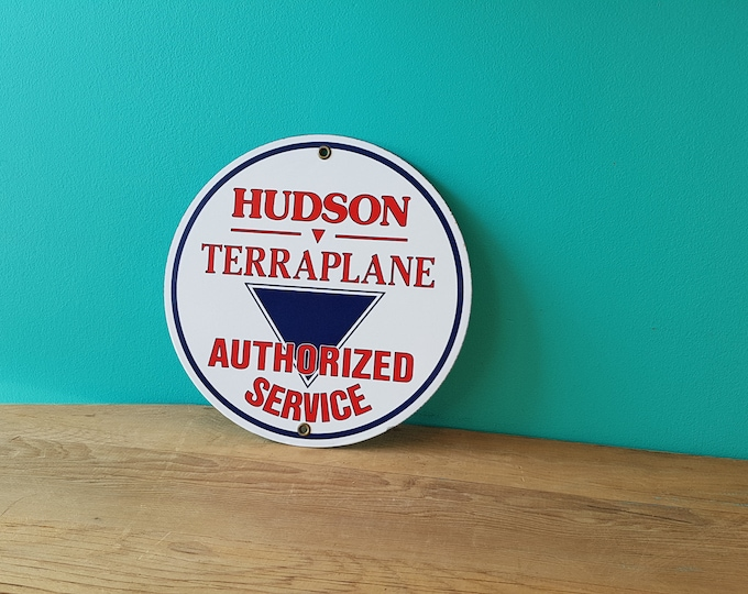 Vintage Hudson Terraplane Automotive Porcelain Sign