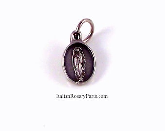 Virgin Mary of Guadalupe Medal Bracelet Charm | Italian Rosary Parts