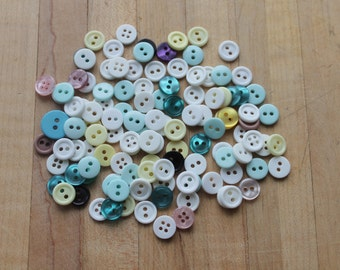 10mm pastel buttons,10mm button mix, pastel buttons, 10mm pastel buttons,crafting, sewing, scrapbooking,