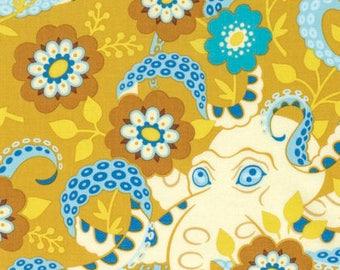 Heather Bailey Hello Love, Octopus Garden in Gold, Fabric Canada/ half yard