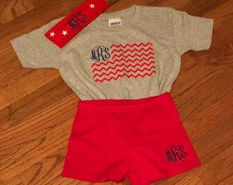 Adorable Patriotic Short Set