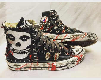 Misfits All Star Converse shoes by Chad Cherry