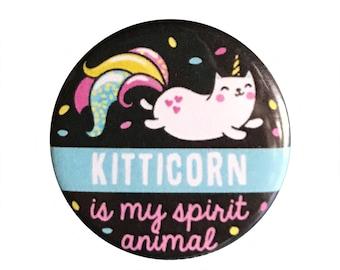 "Kitticorn 1.25"" Button Pin"