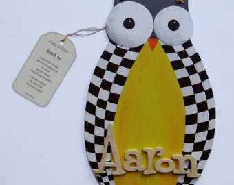 Name in wood - OWL