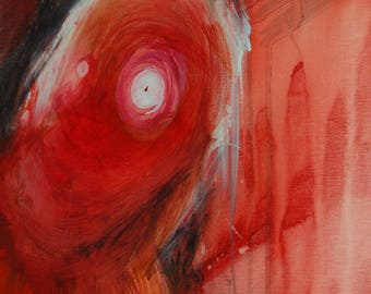 Abstract red figure