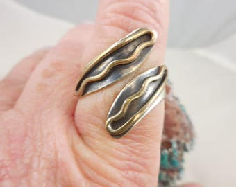 Sterling Wrap Spoon Style Ring