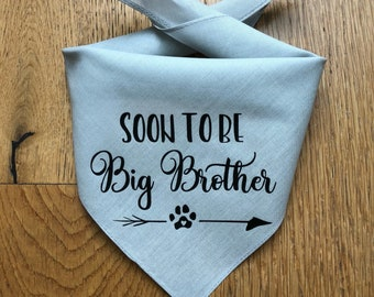 Dog Pregnancy Announcement Bandana, Big Brother in Training, Soon to Be Big Brother, Big Brother Bandana, Pregnancy Announcement Dog Bandana