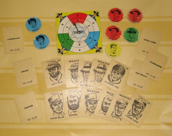 Vintage Game Pieces - Game Spinner - Wild West Game Pieces - 3 Different Games - Scrapbooking - Art Projects