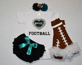 philadelphia eagles baby girl outfit - baby girl eagles outfit - girls eagles outfit - eagles baby girl gift - philadelphia eagles girl gift