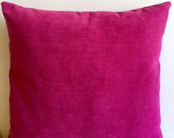 Fushia Chenille Pillow Cover 18x18 Pillow Chenille Fushia Pillow Designer Pillow Chenille Pillows Chenille Cushion Fushia Sofa Pillow Cover