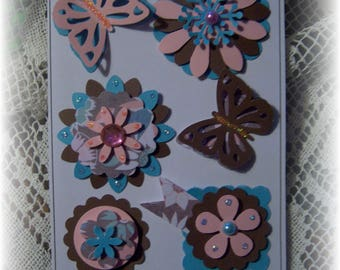 Scrapbook. Card. Cardstock Layered Embellishment