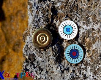 Evil eye conectors,earrings supplies,enamel evil eye, metal connector,zamak findings,round evil eye conector,charm evil eye connector,enamel