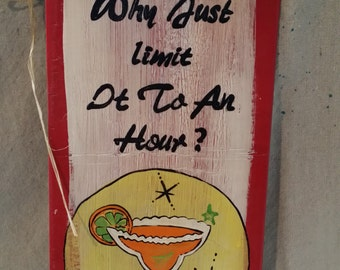 Margarita Bar sign hand painted wooden sign 2