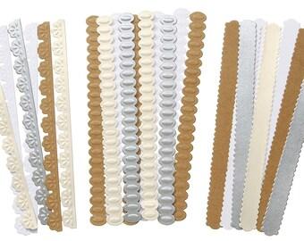 Border Strips by David Tutera.  24 Embossed Paper Strips