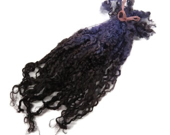 """1oz Premium Hand picked Teeswater wool locks, 12""""-16"""", Extreme locks for tailspinning and felting (2A)"""
