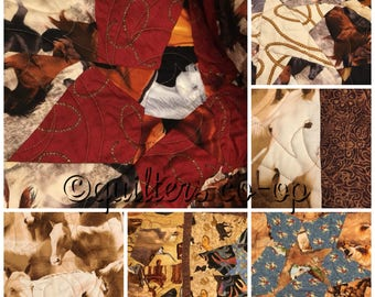 Western Horse Twin Quilt
