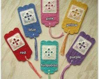 Three-in-One Hardanger felt bookmark kit