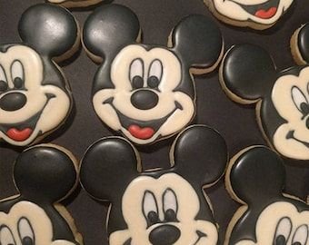 Mickey Mouse Cookies - 1 dozen, Mickey Mouse Favors, Mickey Mouse Birthday Treats