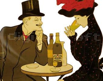 Publicidad Absenta - Capiello - Afiche - Bar - Suiza - Logo - Arte Retro - Ilustracion  Vintage - Mujer - Decoracion - Poster