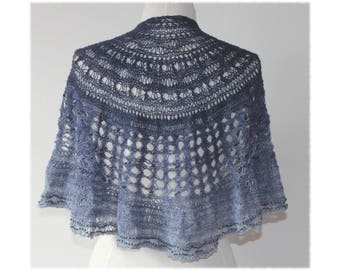Knitted and Beaded Lace Shawl