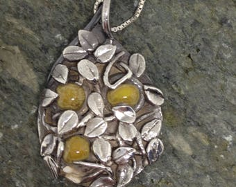 Fine Silver Pendant with Moonstones