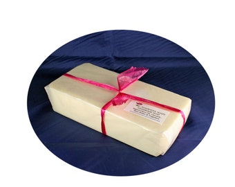 Forget Me Not Soap Loaf One Pound Goatmilk Shea Butter Mango Butter Coconut Oil by Toadstool Soaps