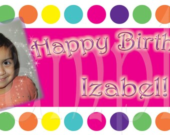 Candy Land Shoppe Personalized Large 2x4 Custom Vinyl Birthday Banner