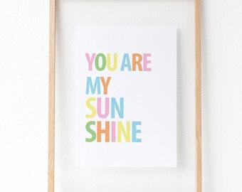 Digital Download - You're My Sunshine Print