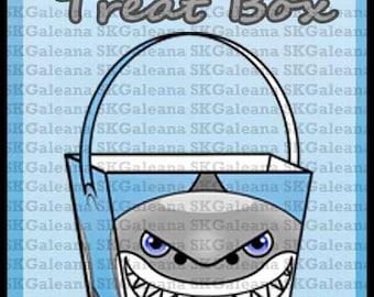 Printable Shark Treat Box Instant Download Printable DIY