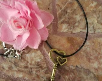 Bronze key necklace