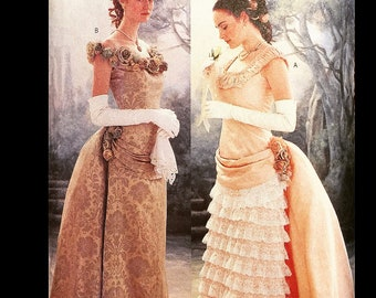 Victorian 1880s Victorian Making History Bustle Formal Ballgown Dress Sewing Pattern 3012 6 8 10