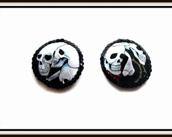 Burlesque Style Pasties in Skulls