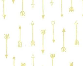 SALE - Michael Miller - Arrow Flight Collection - Arrows in Bright White Metallic