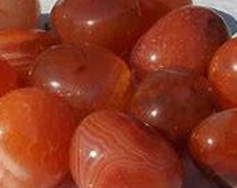 Tumbled Carnelian 5/8- 1 inch AND 1-1.5 inches Chunky (Brazil)