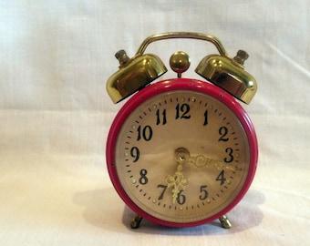Cute Vintage Alarm Clock  60's Retro/ Mid Century