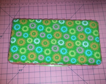 Green floral wipe case