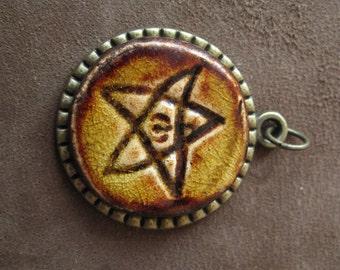 Elder sign pendant amulet lovecraft cthulhu inspired handmade elder sign pendant amulet lovecraft cthulhu inspired aloadofball Choice Image