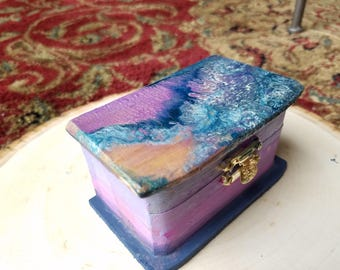Lavender Keepsake Box for Trinkets & Treasures