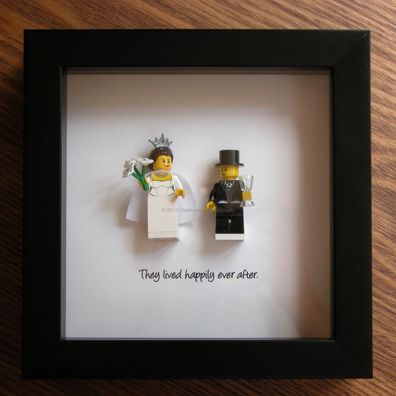LEGO Art Frame novia y novio LEGO minifigura pantalla
