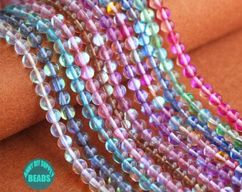 6-12mm full Strands 15.5inch Shining Crystal Beads,Moon Stone Light,Shining Beads,11 Colors Crystal Beads