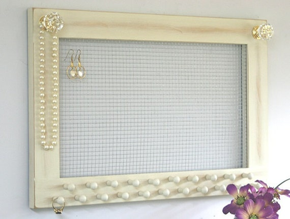 Jewelry Holder Earring Holder Large Frame Wall Hanging Jersey