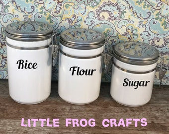 pantry labels canister labels kitchen labels jar labels organization labels personalized labels personalized pantry canister decals