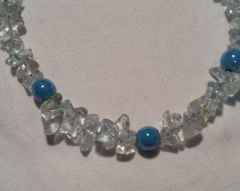 Genuine Blue Topaz beaded bracelet