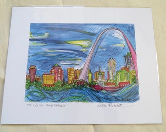 St. Louis Riverfront - 11x14 Inch Signed Print