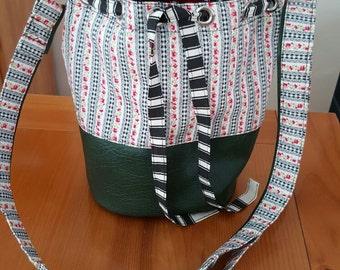 Hand made bag. Crossbody bag. Bucket bag. Unique bag.